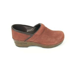 Dansko Burnt Orange Leather Clog Shoes Size 39